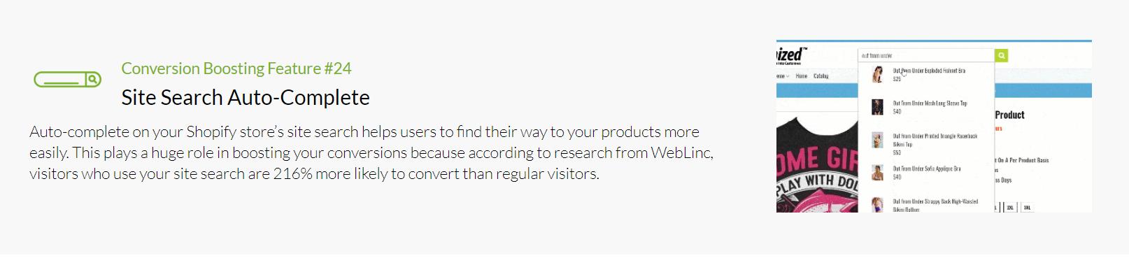 Shoptimized - Site Search Auto Complete