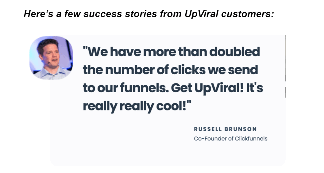 Upviral review and recommendations by users