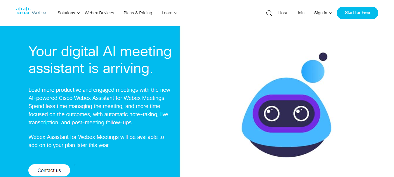 WebEx AI Meeting Assistant