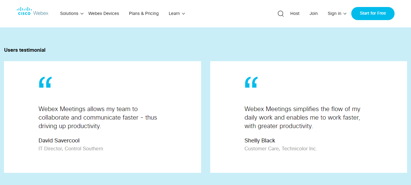 WebEx Customer Reviews