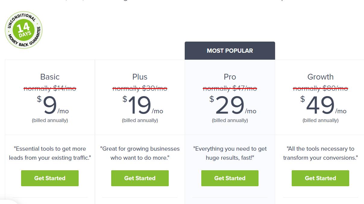 Optinmonster - Pricing