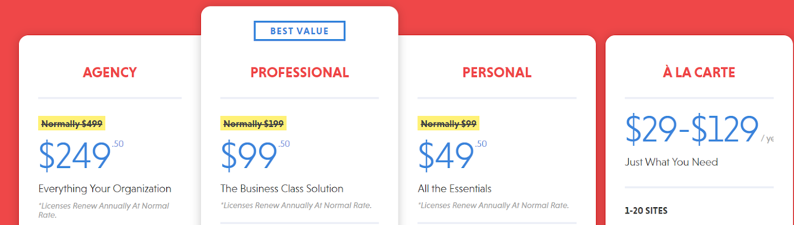 Ninja_Forms - Pricing Plan