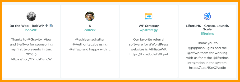 Testimonials- AffiliateWP vs JROX AFfiliate manager
