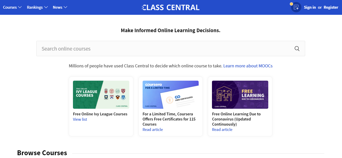 Class Central Overview