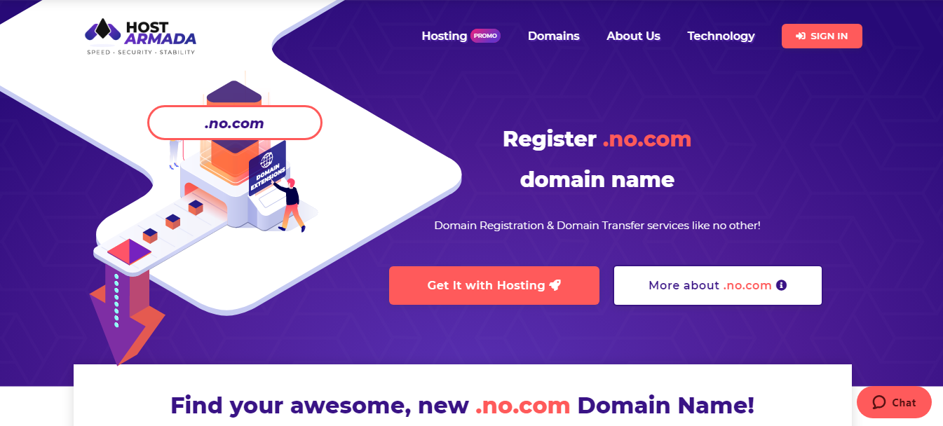Domain Name Registration Transfer of No Charge Hostarmada