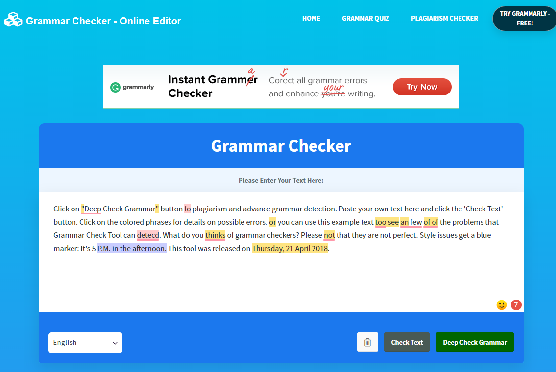 Grammar Checker Overview - Best Grammar Checker Tools