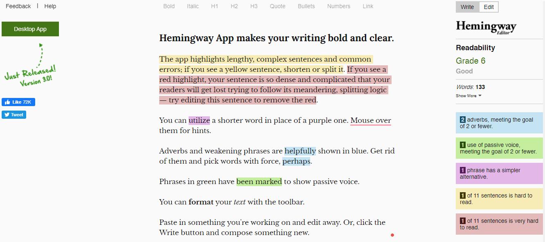 Hemingway Editor- Best Grammar Checker Tools