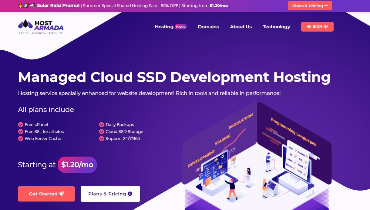 HostArmada Cloud Development Hosting