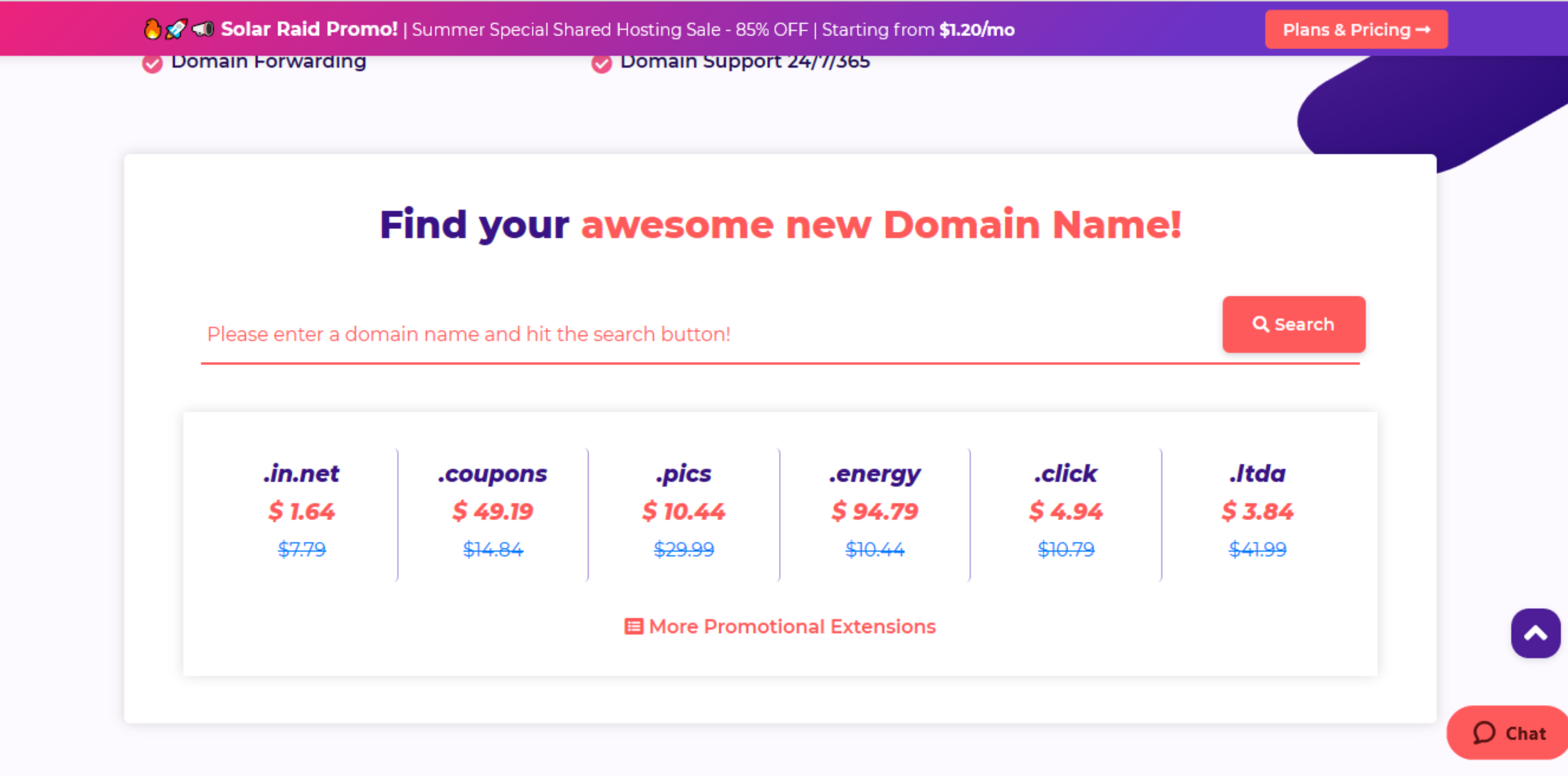 HostArmada domain name pricing