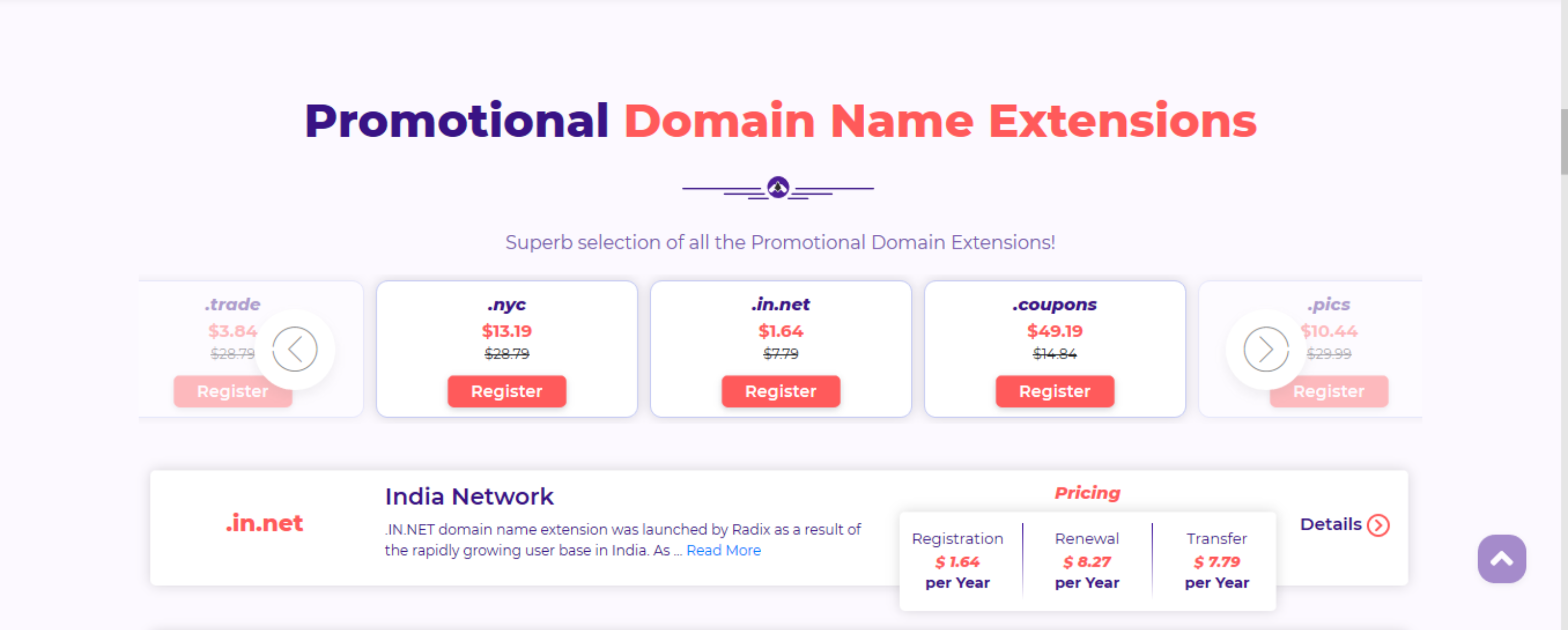 Hostarmada domain name extensions