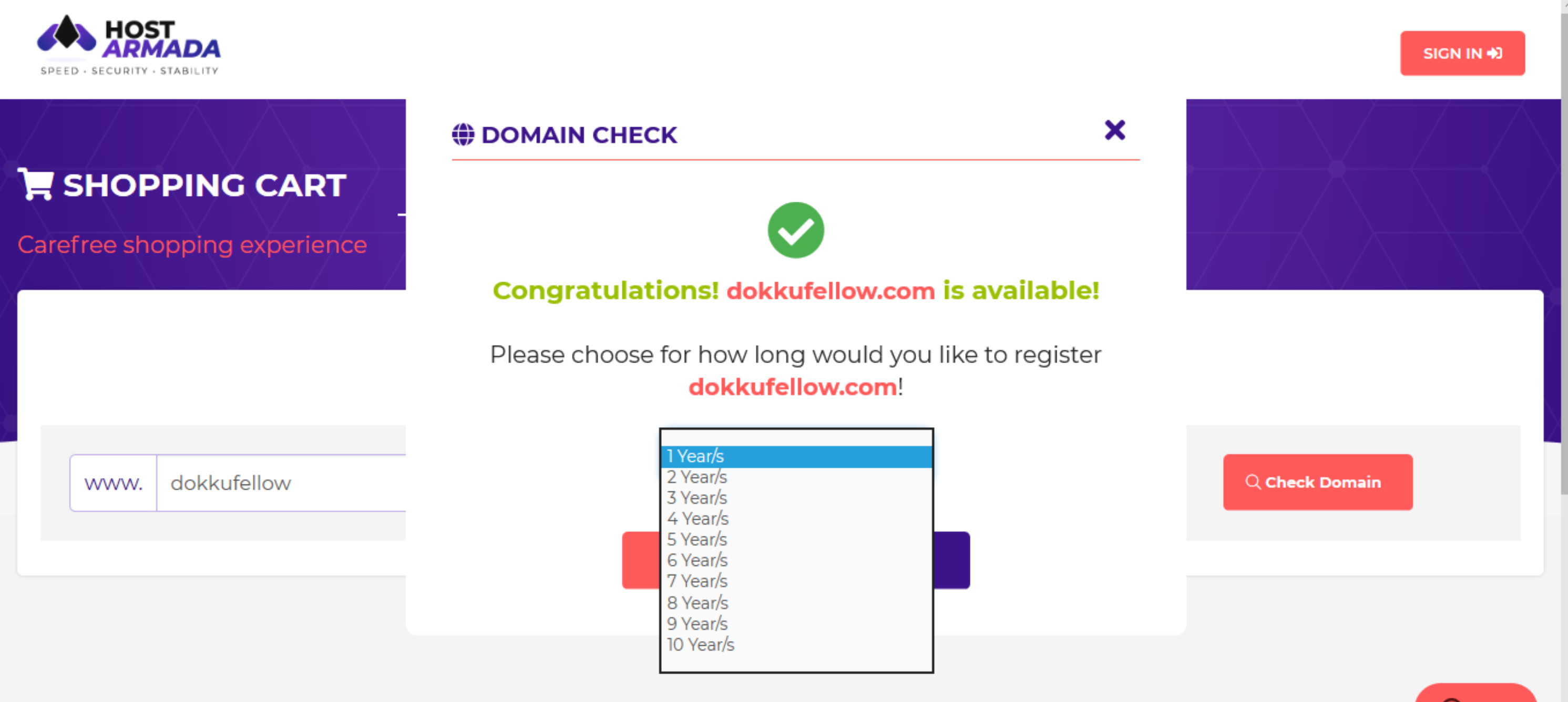 How to get best domain name with HostArmada