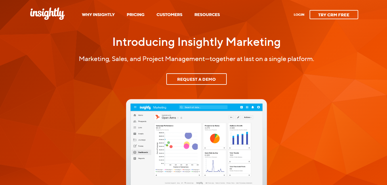 Insightly Marketing CRM for eCommerce and Shopify