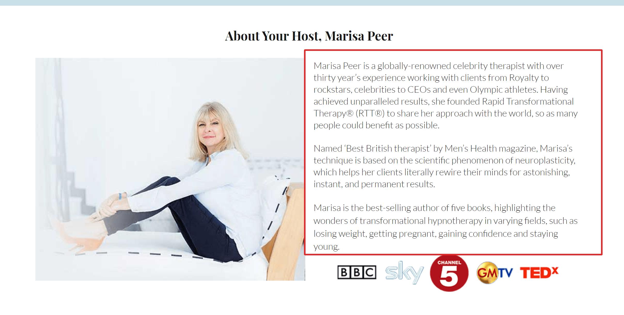 Marisa Peer I am Enough Course Reviews