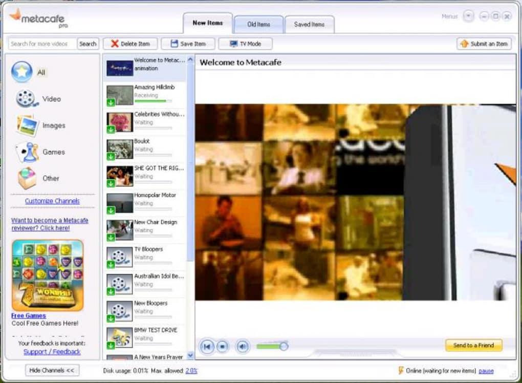 Metacafe video sharing site