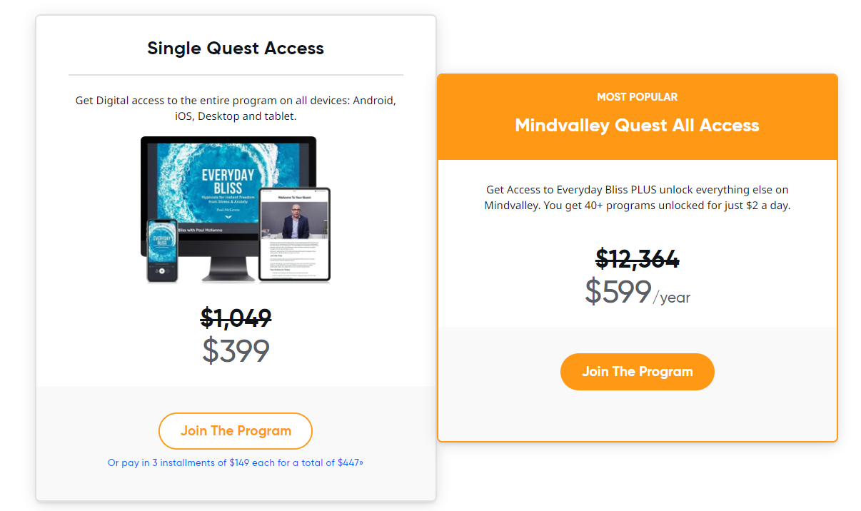 Mindvalley Single Quest Access
