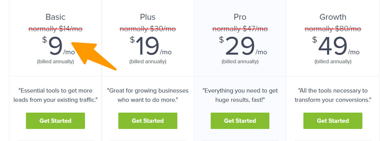 OptinMonster Pricing (Thrive Leads alternative)