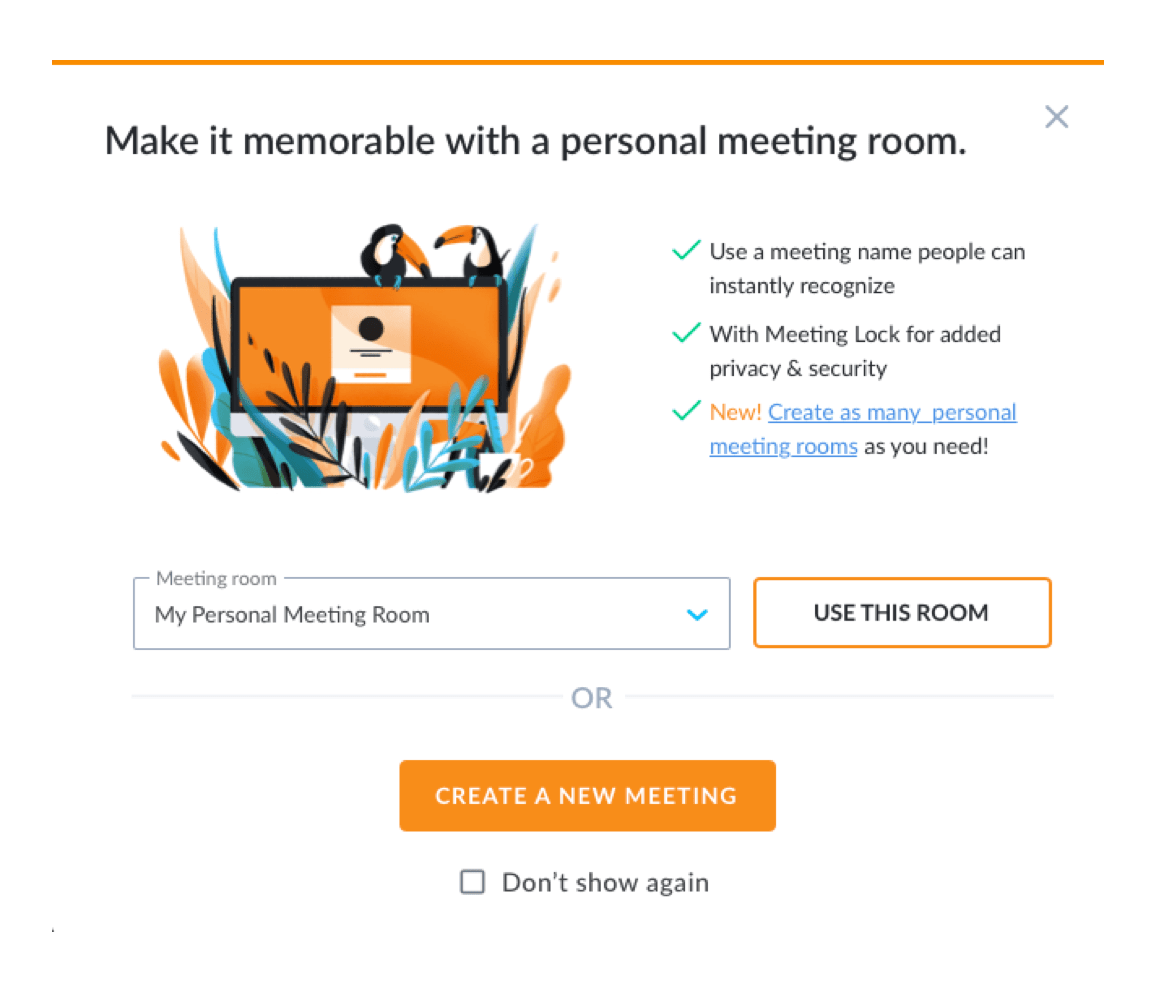Personal meeting room - GoToMeeting