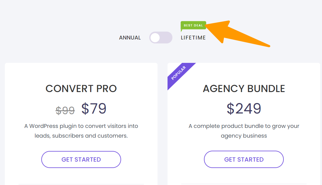 Pricing-Convert Pro for lead generation