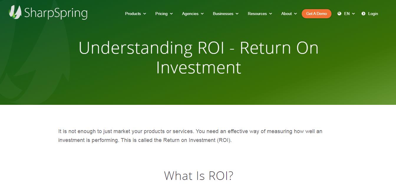 ROI SHARPSPRING vs Salesforce