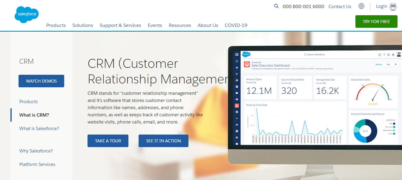 Salesforce CRM tool comparison