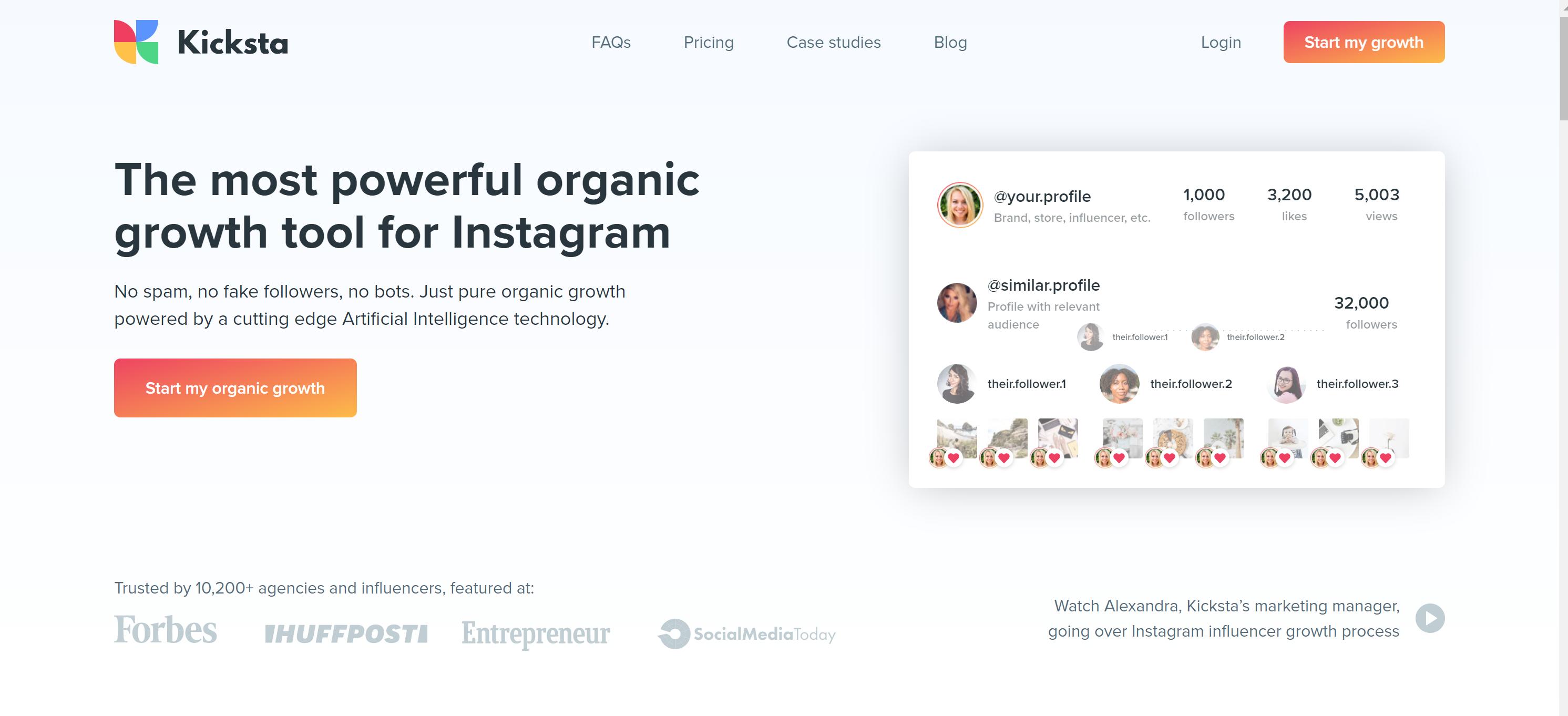 Social upgrade alternative- kicksta for instagram