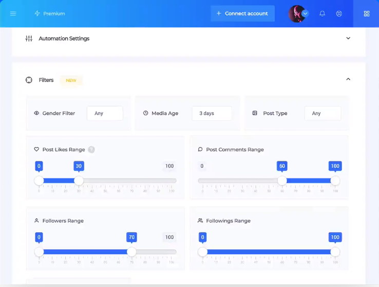 SocialCaptain- Automation Settings