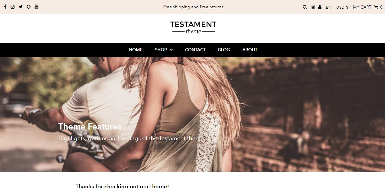Testament Theme