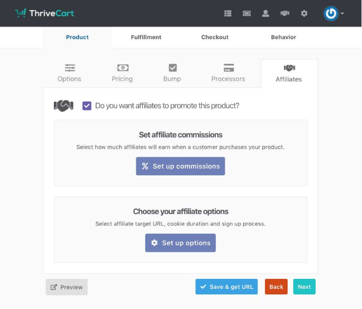 ThriveCart Creating your affiliate links