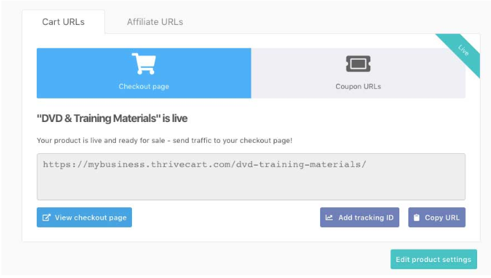 ThriveCart-Embeddable checkout