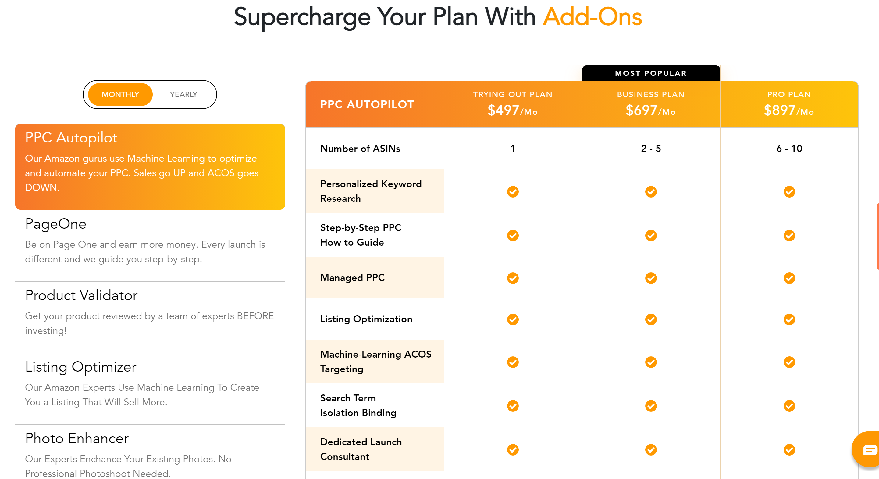 Zonbase pricing plans features