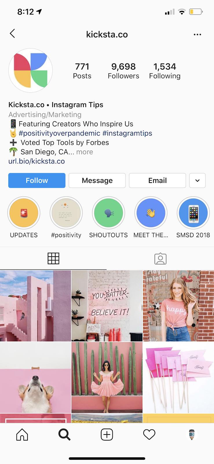Perfectly Optimized Instagram Bio