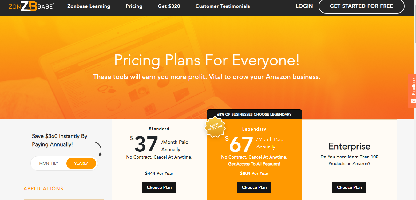 zonbase pricing plan