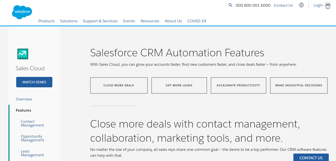 salesforce features vs Sharpsring