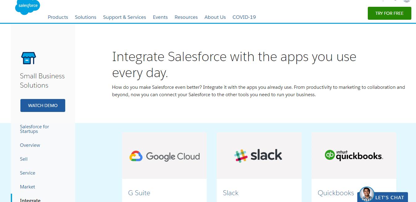 salesforce integration vs SharpSpring