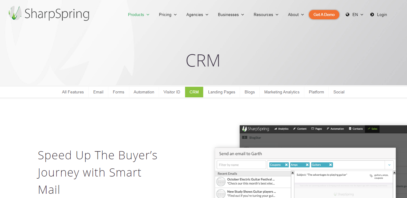 Sharpspring CRM tool for business