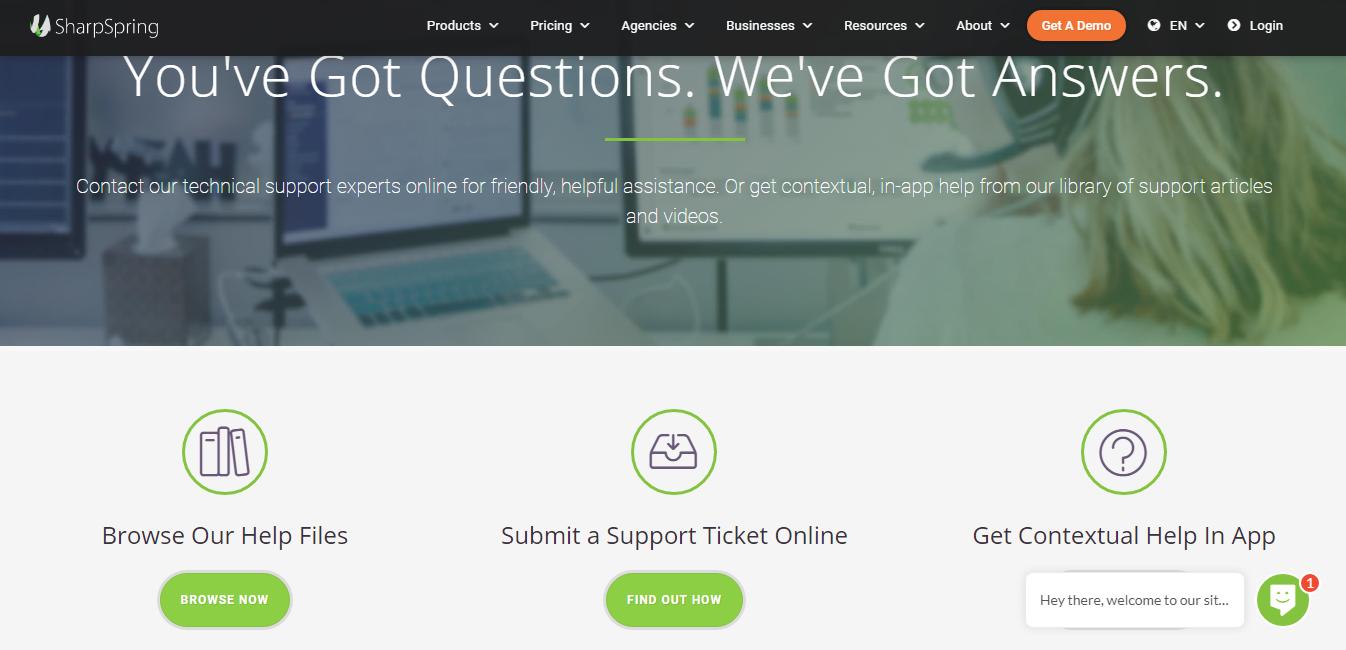 sharpspring customer support