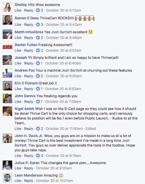thrivecart vs woocommerce facebook reviews