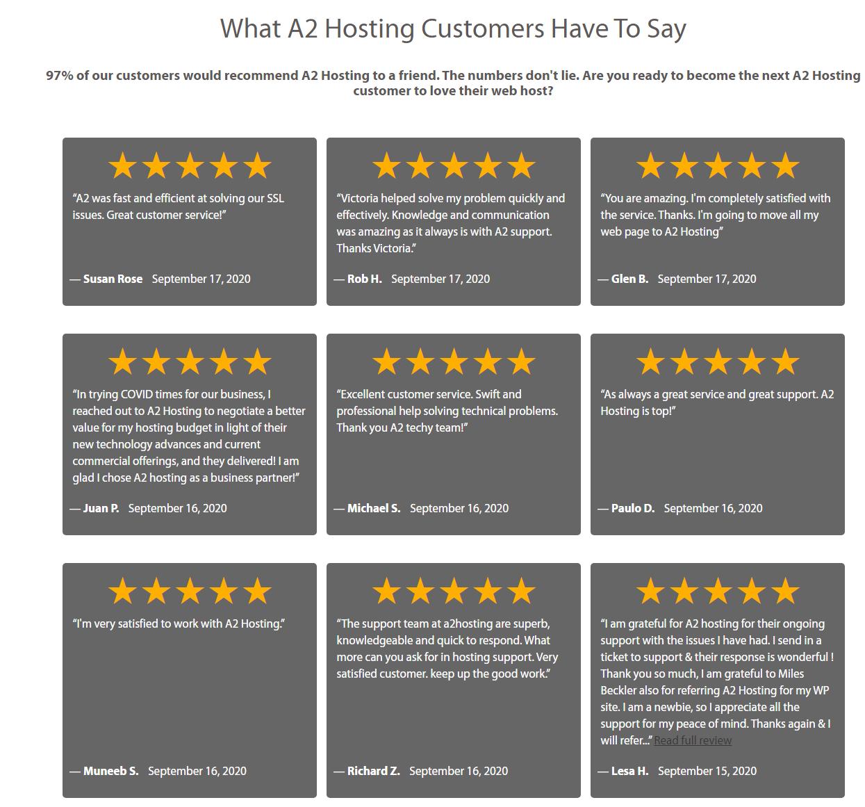 A2 Hostingvs Cloudways - A2 Hosting Customer review
