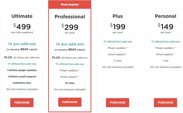 AffiliateWP vs Tapfiliate-Pricing