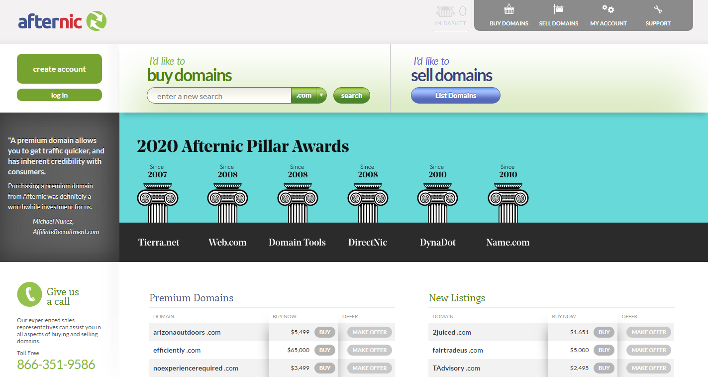 Afternic- domain selling marketplace
