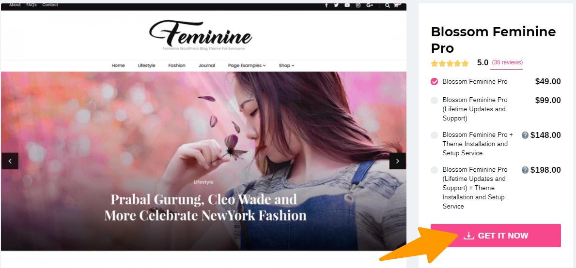 Blossom Feminine Pro- Blossom Theme review