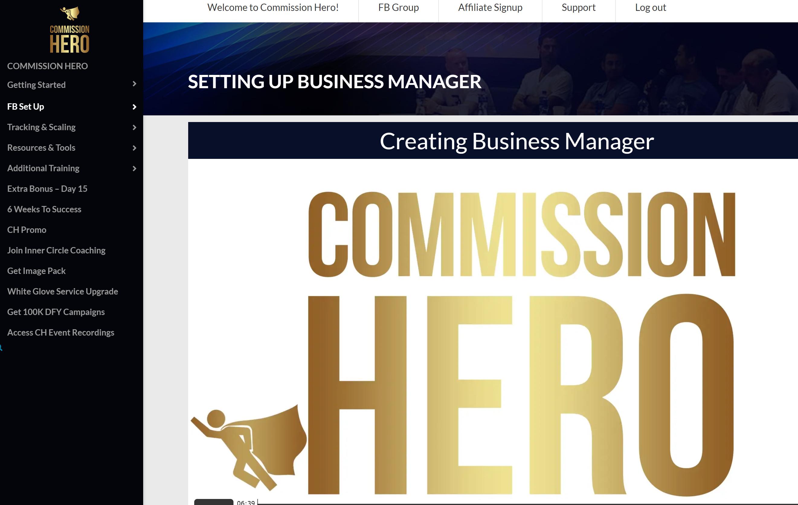 Commission Hero Facebook