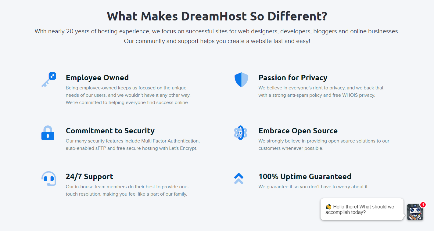 What Makes DreamHost so different