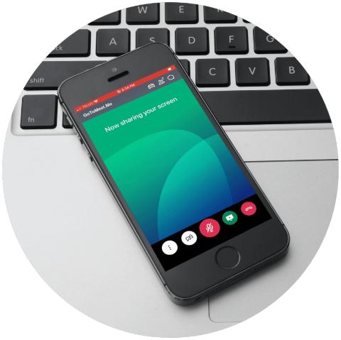 screen sharing using GoToMeeting