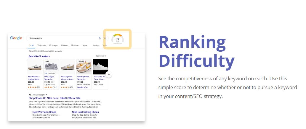 GrowthBar-SEO-Feature - Ranking Difficulty