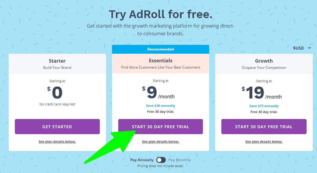 Pricing-AdRoll