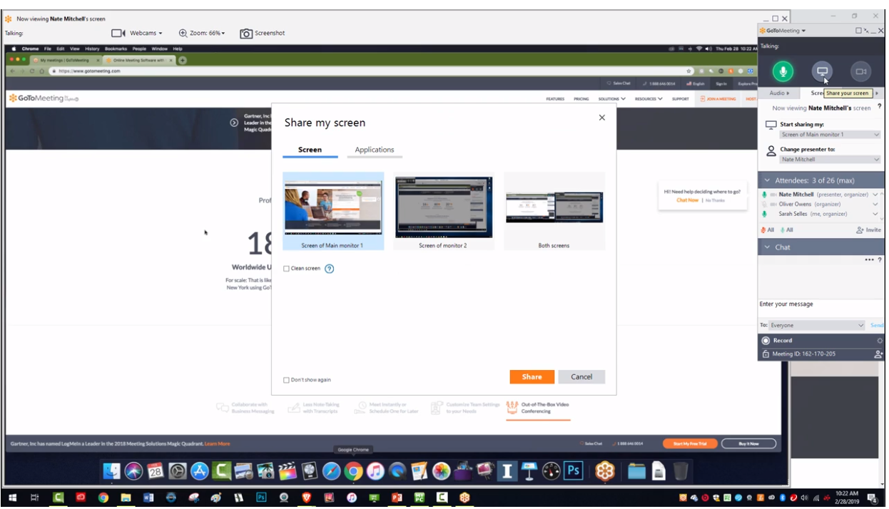 Screen sharing tips with GoTomeeting