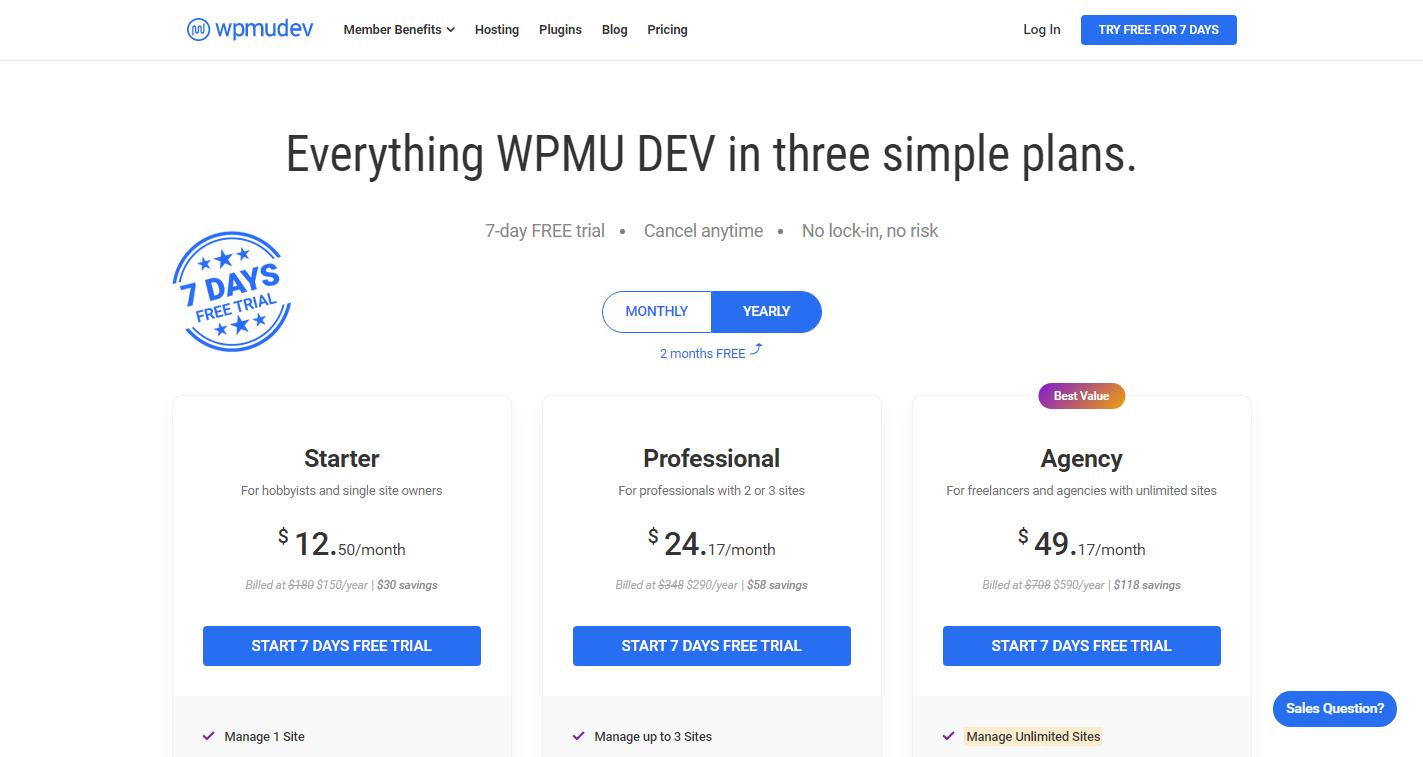 Cloudways vs WPMU DEV -WPMU-DEV-Pricing