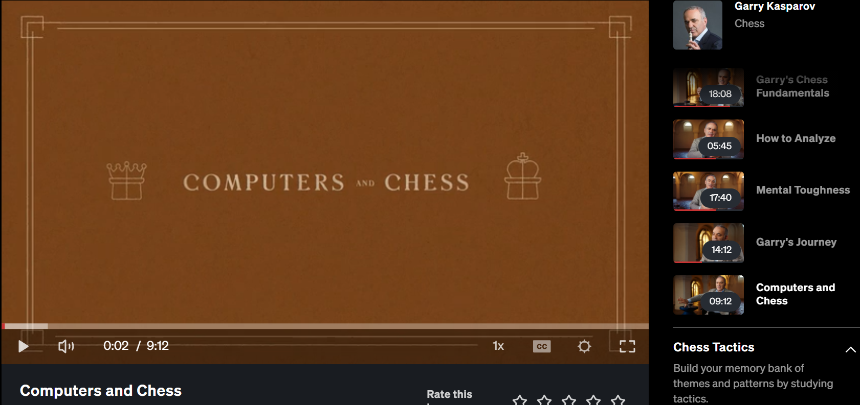garry casparov computer vs chess