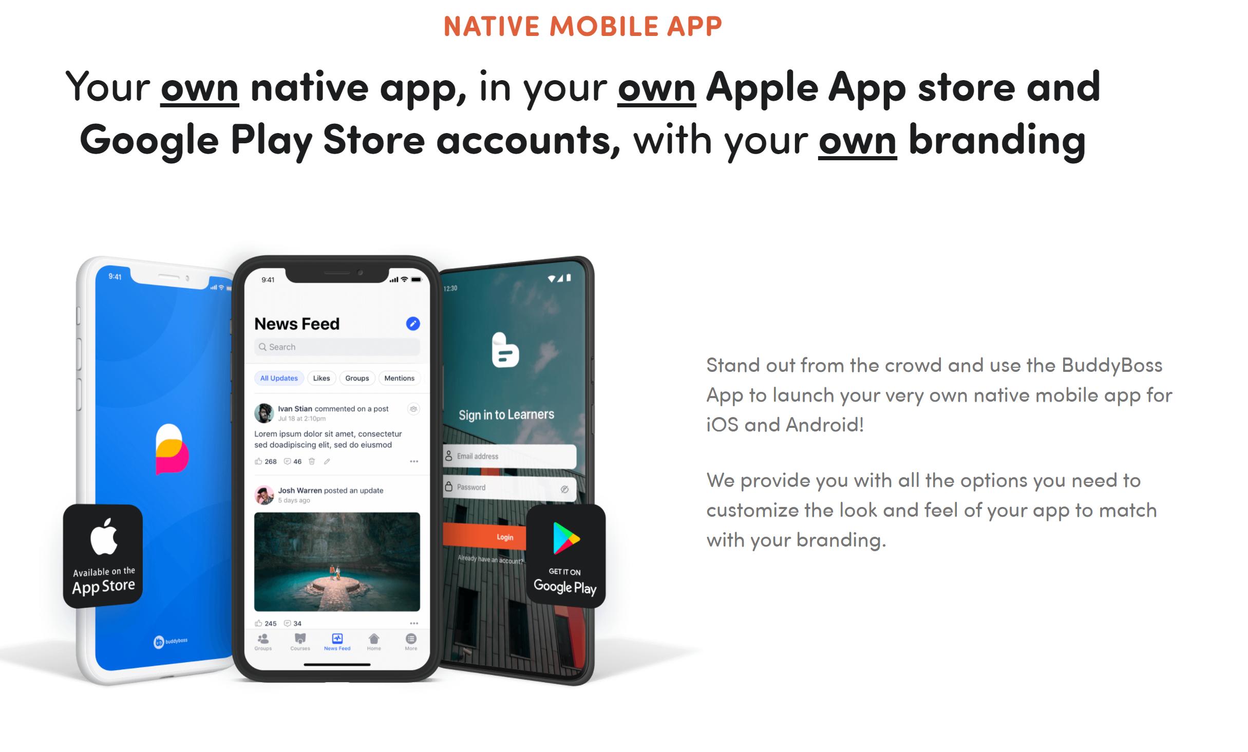 Buddyboss native app